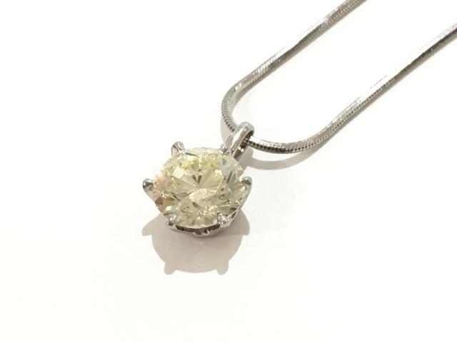 【中古】【送料無料】ジュエリー イエローダイヤネックレス レディース PT900 プラチナ×PT850×ダイヤモンド(2.023ct) | JEWELRY ネックレス ダイヤ ダイヤモンド 美品 ブランドオフ BRANDOFF 美品 ボーナス