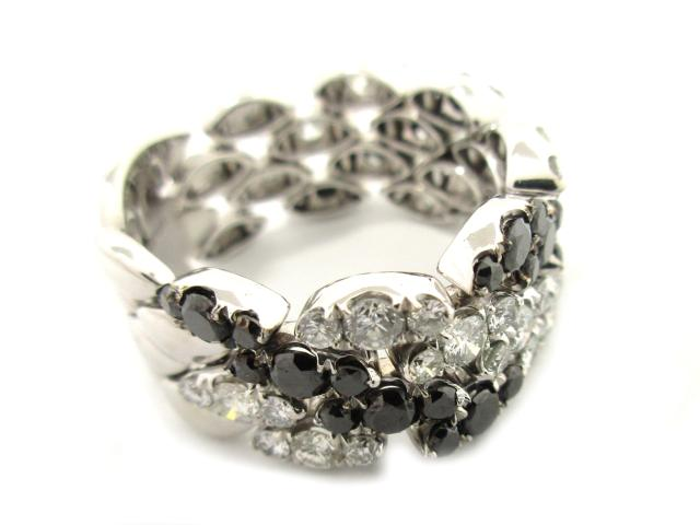 【中古】【送料無料】ジュエリー ダイヤモンドリング 指輪 レディース K18WG(750) ホワイトゴールド ダイヤモンド1.6ct/ブラウンダイヤモンド1.81ct クリアー ブラウン | JEWELRY リング ダイヤリング 9g K18 18K 18金 ダイヤ ダイヤモンド 美品 ブランドオフ BRANDOFF 美品