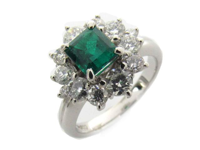 【中古】【送料無料】ジュエリー エメラルド ダイヤモンド リング 指輪 レディース PT900 プラチナ x エメラルド(0.86ct) x ダイヤモンド(1.16ct) | JEWELRY リング 美品 ジュエリー アクセサリー かわいい おしゃれ BRANDOFF ブランドオフ 美品 ボーナス