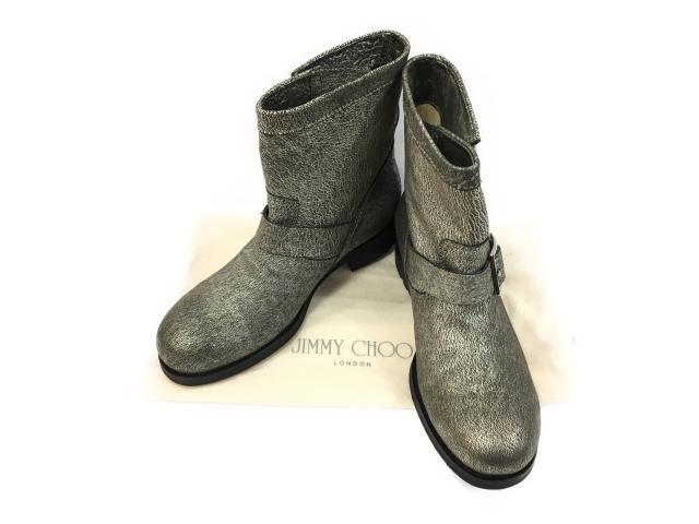 【中古】【送料無料】ジミーチュウ ブーツ レディース レザー シルバー | JIMMY CHOO くつ 靴 美品 ブランド ブランドオフ BRANDOFF