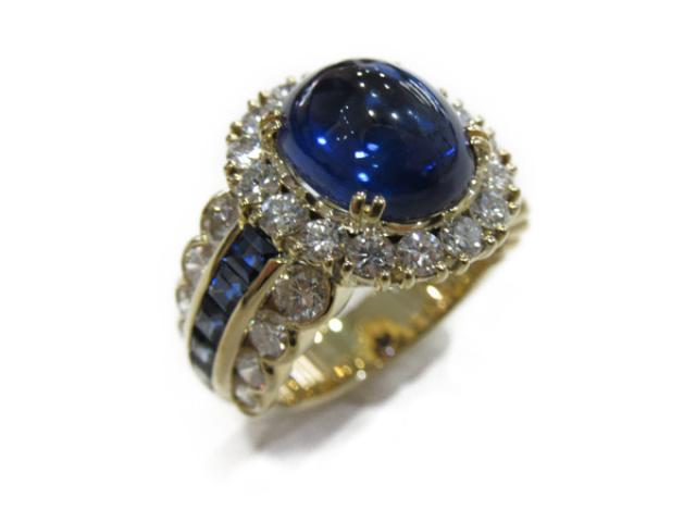 【中古】【送料無料】ジュエリー サファイヤ ダイヤモンドリング 指輪 レディース K18YG(750) イエローゴールド x サファイヤ(6.34ct/1.27ct )x ダイヤモンド(2.51ct) | JEWELRY RING アクセサリー  K18 18K ブランドオフ BRANDOFF 美品 ボーナス