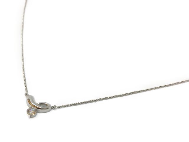 【中古】【送料無料】ジュエリー ネックレス ダイヤ プラチナ レディース PT850 プラチナ× ダイヤ(0.263ct) シルバー | JEWELRY ネックレス ダイヤ ダイヤモンド 美品 ブランドオフ BRANDOFF 美品 ボーナス