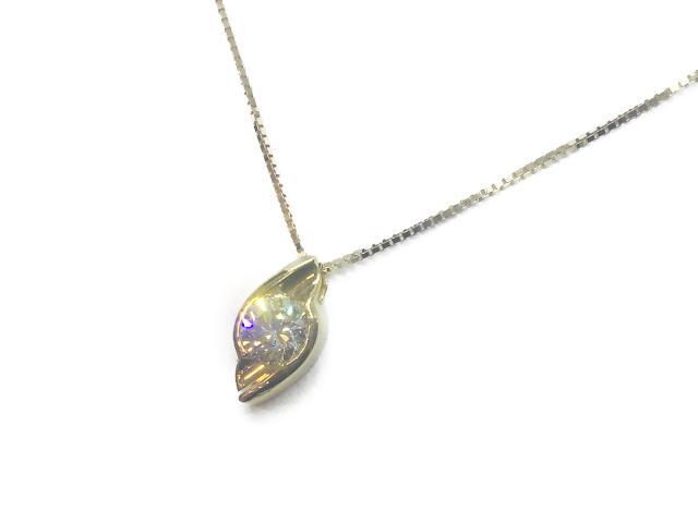 【中古】【送料無料】ジュエリー ネックレス ダイヤ K18 レディース K18YG(750) イエローゴールド× ダイヤ(1.017ct) ゴールド | JEWELRY ネックレス K18 18K 18金 ダイヤ ダイヤモンド 美品 ブランドオフ BRANDOFF 美品 ボーナス