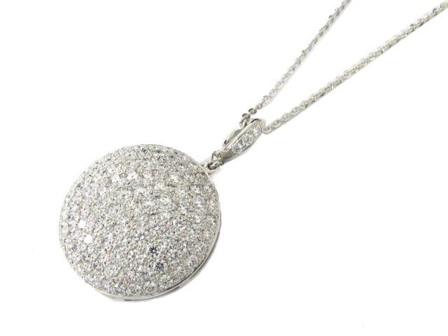 【中古】【送料無料】ジュエリー ダイヤモンド ネックレス レディース K18WG(750) ホワイトゴールド x ダイヤモンド(5.00ct)   JEWELRY ネックレス K18 18K 18金 ダイヤ ダイヤモンド 美品 ブランドオフ BRANDOFF 美品 ボーナス