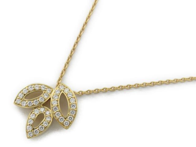 【中古】【送料無料】ハリーウィンストン リリークラスターダイヤネックレス レディース K18YG(750) イエローゴールド x ダイヤモンド   HARRY WINSTON ネックレス 美品 ブランド ブランドオフ BRANDOFF