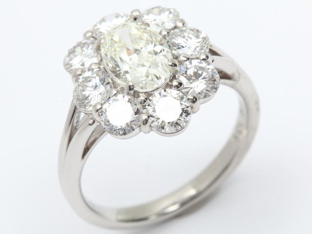 【中古】【送料無料】ジュエリー ダイヤモンド リング 指輪 レディース PT900 プラチナ x ダイヤモンド(1.009ct)399800   JEWELRY リング リング ダイヤ ダイヤモンド 美品 ブランドオフ BRANDOFF 美品 ボーナス