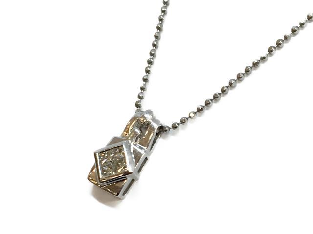 【中古】【送料無料】ジュエリー ダイヤモンドネックレス レディース PT850 プラチナ×PT900×ダイヤモンド(0.25ct)49800 | JEWELRY ネックレス ダイヤ ダイヤモンド 美品 ブランドオフ BRANDOFF 美品 ボーナス