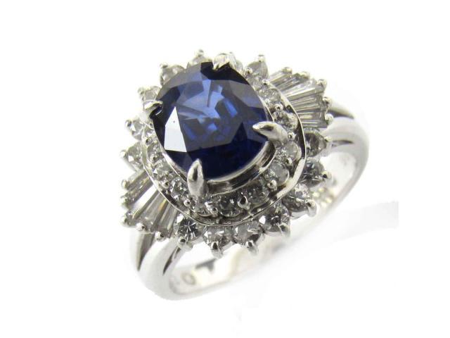 【中古】【送料無料】ジュエリー サファイア ダイヤモンド リング 指輪 レディース PT900 プラチナ x サファイア(1.33ct) x ダイヤモンド(0.86ct) | JEWELRY リング リング ダイヤ ダイヤモンド 美品 ブランドオフ BRANDOFF 美品 ボーナス