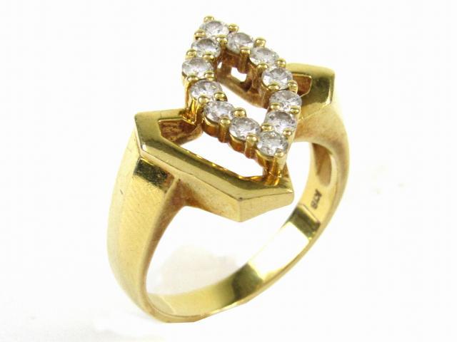 【中古】【送料無料】ジュエリー ダイヤモンド リング 指輪 レディース K18YG(750) イエローゴールド x ダイヤモンド0.52ct (ダイヤ 5.3g)   JEWELRY リング リング K18 18K 18金 ダイヤ ダイヤモンド 美品 ブランドオフ BRANDOFF 美品 ボーナス