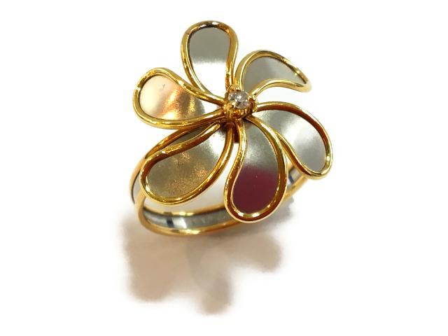 【中古】ジュエリー ダイヤモンドリング 指輪 レディース K18YG(750) イエローゴールドxPT850 クリアー | JEWELRY リング リング K18 18K 18金 ダイヤ ダイヤモンド 美品 ブランドオフ BRANDOFF 美品 ボーナス