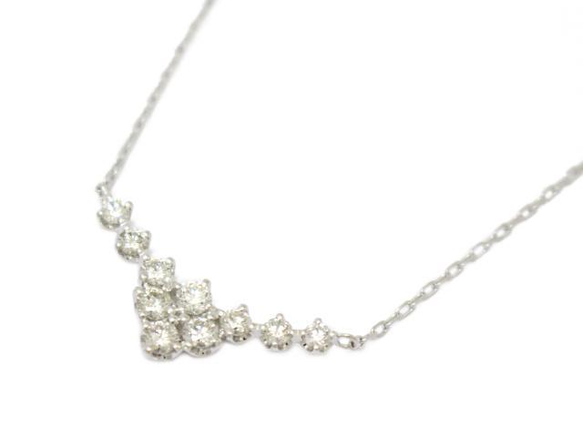 【中古】【送料無料】ジュエリー ハート&キュービット ダイヤモンド ネックレス レディース PT900 プラチナPT850×ダイヤモンド(0.5ct) | JEWELRY ネックレス ダイヤ ダイヤモンド 美品 ブランドオフ BRANDOFF 美品 ボーナス