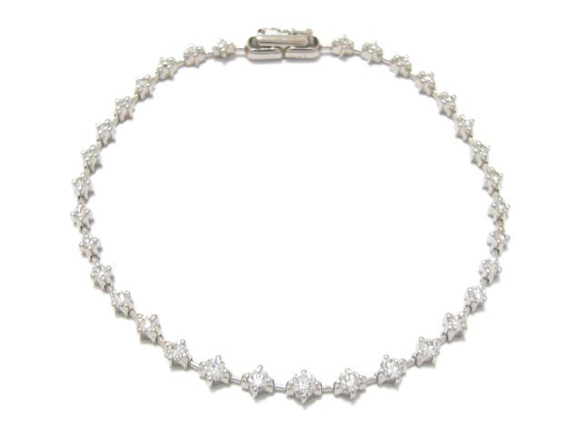 【中古】【送料無料】ジュエリー ダイヤモンド ブレスレット K18WG(750) ホワイトゴールド x ダイヤモンド (1.50ct) | JEWELRY ブレスレット ダイヤブレスレット メンズ レディース K18 18K 18金 ダイヤ ダイヤモンド 美品 ブランドオフ BRANDOFF 美品 ボーナス