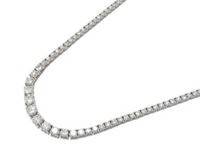【中古】【送料無料】ジュエリー ダイヤモンド ネックレス ユニセックス K18WG(750) ホワイトゴールド x ダイヤモンド (5.07ct) | JEWELRY ネックレス ダイヤネックレス 美品 メンズ レディース ブランドオフ BRANDOFF 美品 ボーナス