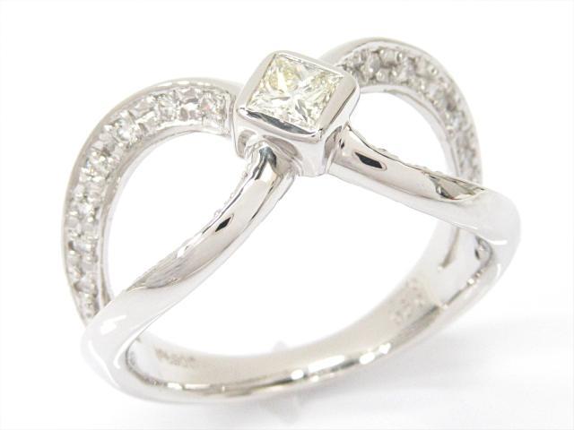 【中古】【送料無料】ジュエリー ダイヤモンドリング 指輪 レディース PT900 プラチナxダイヤモンド(0.28/0.25ct) | JEWELRY リング リング ダイヤ ダイヤモンド 美品 ブランドオフ BRANDOFF 美品 ボーナス