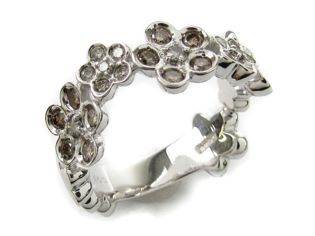 【中古】【送料無料】ジュエリー ダイヤモンド リング 指輪 レディース K18WG(750) ホワイトゴールド x ダイヤモンド0.60ct | JEWELRY リング リング K18 18K 18金 ダイヤ ダイヤモンド 美品 ブランドオフ BRANDOFF 美品 ボーナス