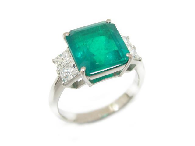 【中古】【送料無料】ジュエリー エメラルド ダイヤモンド リング 指輪 ユニセックス PT900 プラチナ x エメラルド (4.59ct) x ダイヤモンド (1.00ct) | JEWELRY リング Ring 美品 メンズ レディース ブランドオフ BRANDOFF 美品 ボーナス