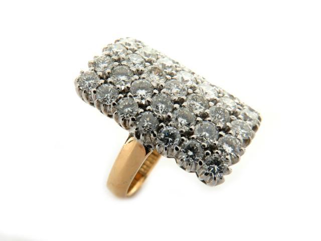 【中古】【送料無料】ジュエリー k18(750)イエローゴールド・ホワイトゴールドダイヤモンドリング レディース k18YG (750) イエローゴールドk18WG(750)ホワイトゴールド ダイヤモンド 石目刻印無 ゴールド シルバー | JEWELRY リング Ring 美品 18金 18K K18 美品