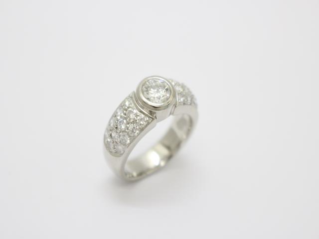 【中古】【送料無料】ジュエリー ダイヤモンドリング 指輪 レディース PT900 プラチナ × D1.016/1.07ct クリアー | JEWELRY リング リング ダイヤ ダイヤモンド 美品 ブランドオフ BRANDOFF 美品 ボーナス