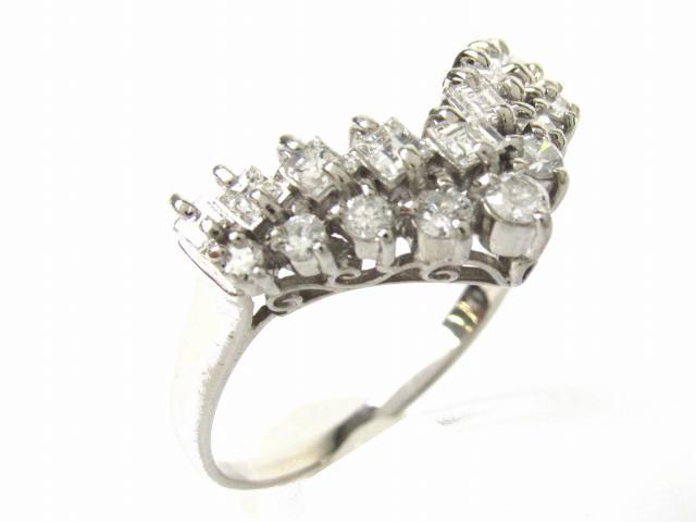 【中古】【送料無料】ジュエリー ダイヤモンド リング 指輪 レディース PT900 プラチナ x ダイヤモンド1.0ct | JEWELRY リング リング ダイヤ ダイヤモンド 美品 ブランドオフ BRANDOFF 美品 ボーナス