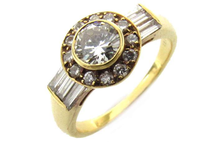 【中古】【送料無料】ブシュロン ダイヤモンド リング 指輪 レディース K18YG(750) イエローゴールド x ダイヤモンド(0.56ct) | BOUCHERON リング ダイヤリング 美品 ブランド ブランドオフ BRANDOFF