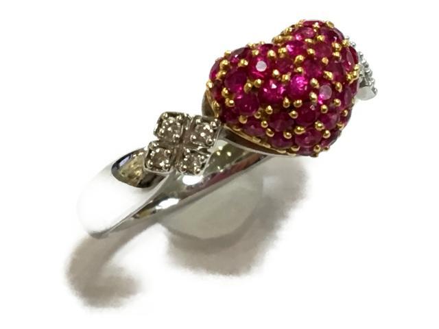 【中古】【送料無料】ジュエリー ジュエリー ルビー ダイヤモンド リング 指輪 レディース K18WG(750) ホワイトゴールド×K18YG(750) イエローゴールド×ルビー(0.80ct)×ダイヤモンド(0.05ct) | JEWELRY Ring 美品 K18 18K 18金 ブランドオフ BRANDOFF 美品 ボーナス