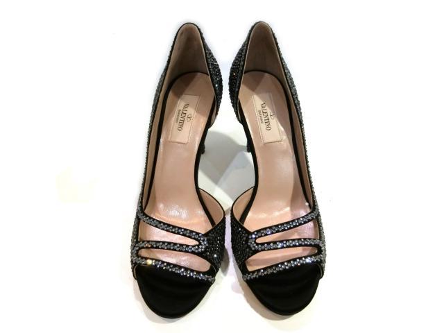 【中古】ヴァレンチノ パンプス レディース ブラック | VALENTINO くつ 靴 パンプス ブランド靴 ブランド 美品 ブランドオフ BRANDOFF 美品 ボーナス