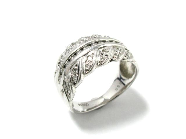 【中古】【送料無料】ジュエリー ダイヤモンド リング 指輪 レディース PT900 プラチナxダイヤモンド(0.50ct) クリアーxシルバー | JEWELRY リング リング ダイヤ ダイヤモンド 美品 ブランドオフ BRANDOFF 美品 ボーナス