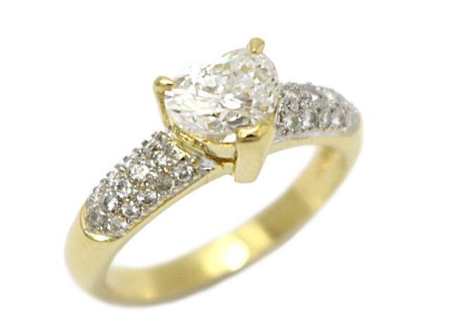 【中古】【送料無料】ジュエリー ハート ダイヤモンド リング 指輪 レディース K18YG(750) イエローゴールド×ダイヤモンド(1.031ct) | JEWELRY リング ダイヤ ダイヤモンドリング リング 美品 K18 18K 18金 ブランドオフ BRANDOFF 美品 ボーナス