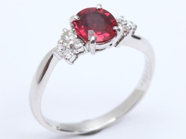 【中古】【送料無料】ジュエリー ルビー ダイヤモンド リング 指輪 レディース PT900 プラチナ x ルビー(1.027ct) x ダイヤモンド(0.21ct) | JEWELRY リング リング ダイヤ ダイヤモンド 美品 ブランドオフ BRANDOFF 美品 ボーナス