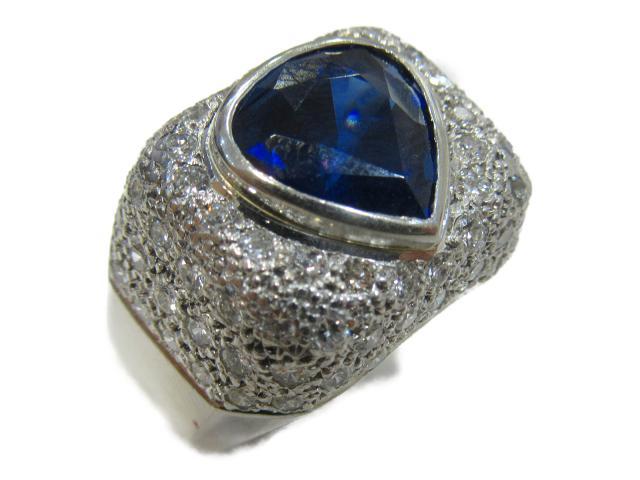 【中古】【送料無料】ジュエリー サファイア ダイヤモンドリング 指輪 レディース PT900 プラチナ x サファイア(5.075ct)x ダイヤモンド(1.53ct) | JEWELRY リング ダイヤ ダイヤモンド リング 美品 ブランドオフ BRANDOFF 美品 ボーナス