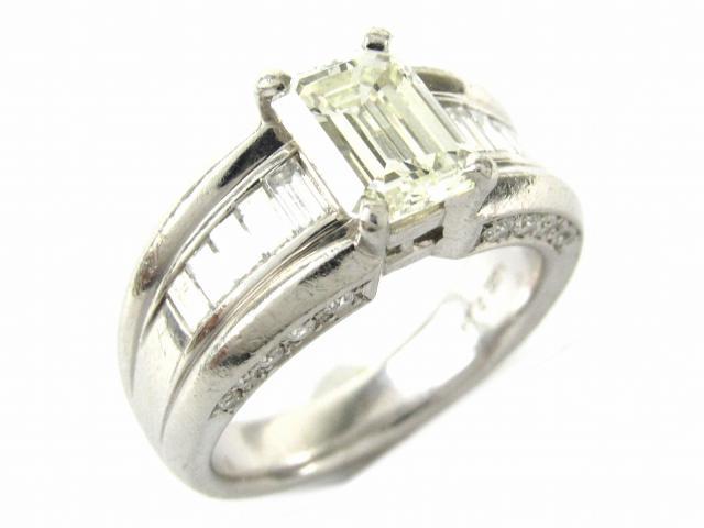 【中古】【送料無料】ジュエリー ダイヤモンド リング 指輪 レディース PT900 プラチナ x ダイヤモンド2.24/0.95ct | JEWELRY Ring ダイヤ リング 美品 ブランドオフ BRANDOFF 美品 ボーナス