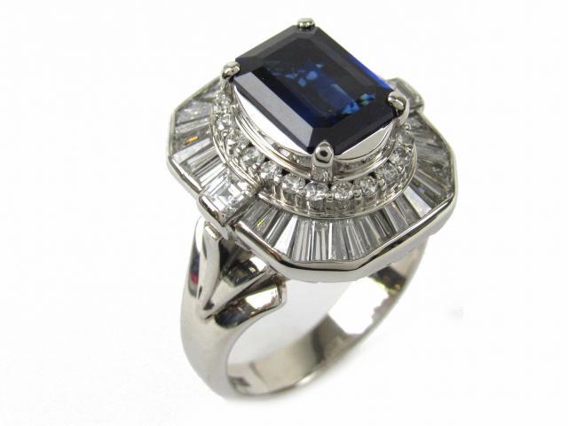 【中古】【送料無料】ジュエリー サファイア ダイヤモンド リング 指輪 レディース PT900 プラチナ x サファイア2.90/ダイヤモンド1.81ct | JEWELRY Ring ダイヤ リング 美品 ブランドオフ BRANDOFF 美品 ボーナス
