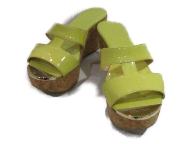 【中古】ジミーチュウ サンダル レディース エナメル イエロー | JIMMY CHOO くつ 靴 美品 ブランド ブランドオフ BRANDOFF