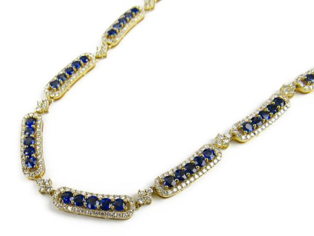 【中古】【送料無料】ジュエリー サファイア ダイヤモンド ネックレス レディース K18WG(750) ホワイトゴールド x サファイア16.28/ダイヤモンド7.12ct | JEWELRY ネックレス ダイヤ ネックレス 美品 18K K18 18金 ブランドオフ BRANDOFF ボーナス