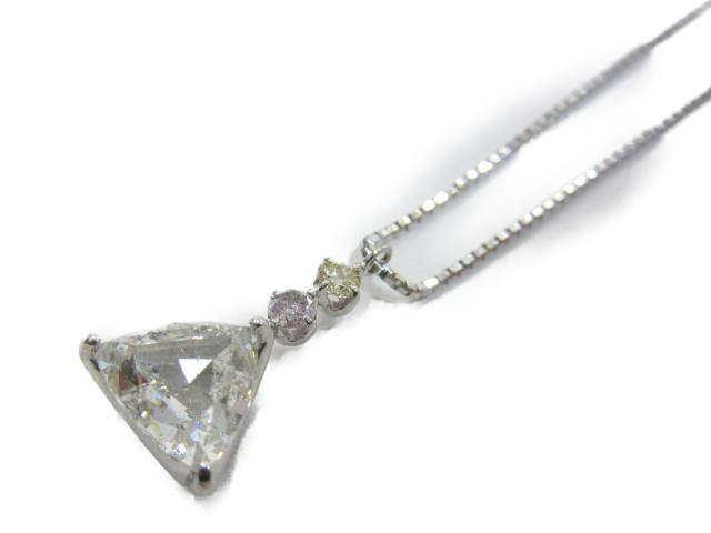 【中古】【送料無料】ジュエリー ダイヤモンド ネックレス レディース K18WG(750) ホワイトゴールド x ダイヤモンド(1.562ct/0.03ct/0.04ct) | JEWELRY ネックレス ダイヤ ネックレス 美品 18K K18 18金 ブランドオフ BRANDOFF 美品 ボーナス
