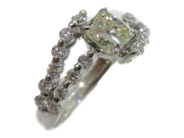 【中古】【送料無料】ジュエリー ダイヤモンド リング 指輪 レディース PT900 プラチナ(1.009ct) | JEWELRY Ring ダイヤ リング 美品 ブランドオフ BRANDOFF 美品 ボーナス