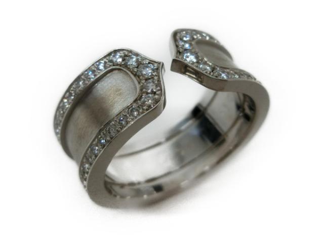 【中古】【送料無料】カルティエ C2 リング 指輪 レディース 750WG×ダイヤモンド | Cartier リング 美品 ブランド ブランドオフ BRANDOFF