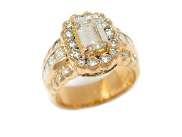 【中古】【送料無料】ジュエリー ダイヤモンド リング 指輪 K18YG(750) イエローゴールド x ダイヤモンド (1.22/0.94/0.51ct) | JEWELRY Ring メンズ レディース 18K K18 18金 ダイヤ 美品 ブランドオフ BRANDOFF 美品 ボーナス