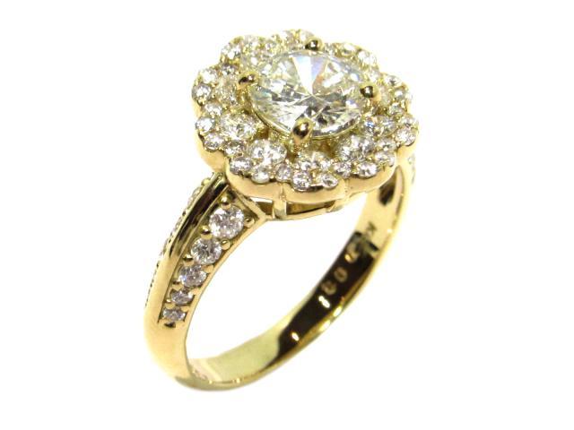 【中古】【送料無料】ジュエリー ダイヤモンドリング レディース K18YG(750) イエローゴールド×D1.008ct×D0.93ct ゴールド×クリアー | JEWELRY Ring 18K K18 18金 美品 ブランドオフ BRANDOFF 美品 ボーナス
