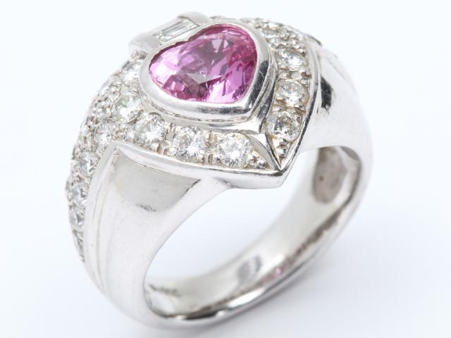 【】ジュエリーピンクサファイアダイヤモンドリング指輪レディースPT900プラチナxピンクサファイア(1.55ct)xダイヤモンド(1.50ct)