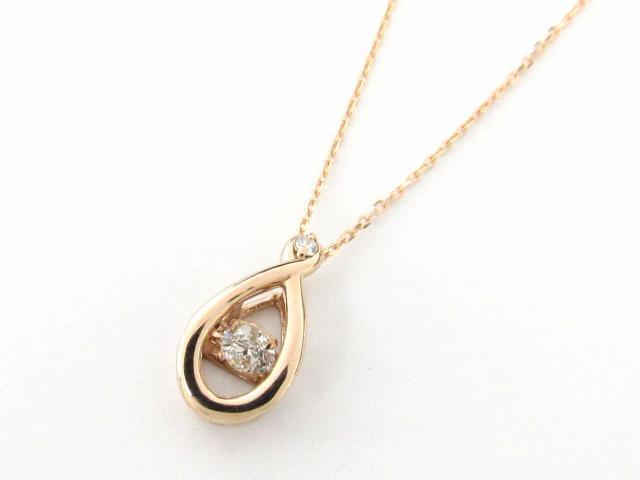 【送料無料】ジュエリー ダイヤモンド ネックレス レディース K18PG(750) ピンクゴールド x ダイヤモンド0.12/0.01ct | JEWELRY ネックレス 18K K18 18金 ダイヤ 新品 ブランドオフ BRANDOFF ボーナス