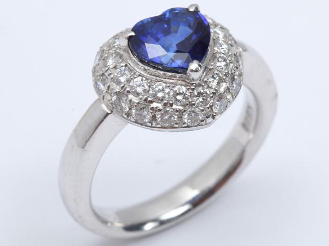 【中古】【送料無料】ジュエリー サファイア ダイヤモンド リング 指輪 レディース K18WG(750) ホワイトゴールド x サファイア(2.12ct) x ダイヤモンド(0.64ct) | JEWELRY Ring 18K K18 18金 ダイヤ 美品 ブランドオフ BRANDOFF 美品 ボーナス
