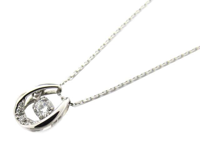 【送料無料】ジュエリー ダイヤモンド ネックレス レディース PT900 プラチナ x ダイヤモンド(0.12ct/0.02ct) | JEWELRY ネックレス ダイヤ 新品 ブランドオフ BRANDOFF ボーナス