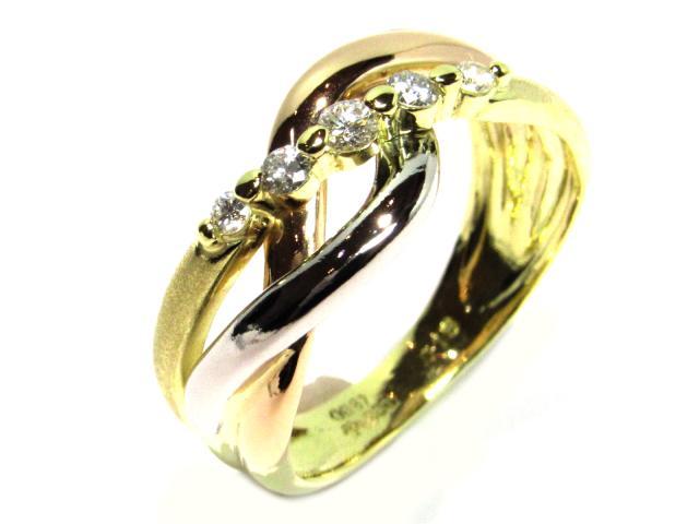 【中古】【送料無料】ジュエリー ダイヤモンドリング 指輪 レディース PT900 プラチナ×K18×ダイヤモンド0.16ct/4.4g クリアー | JEWELRY Ring 18K K18 18金 美品 ブランドオフ BRANDOFF 美品 ボーナス