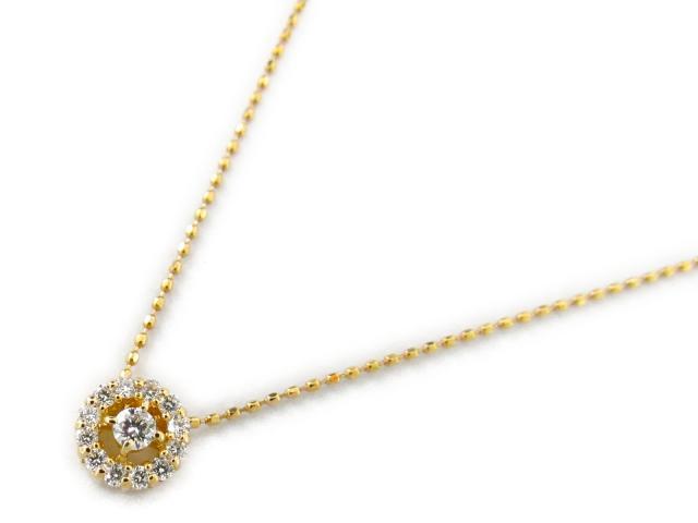 【送料無料】ジュエリー ダイヤモンド ネックレス レディース K18YG(750) イエローゴールド x ダイヤモンド0.20ct | JEWELRY ネックレス 18K K18 18金 ダイヤ 新品 ブランドオフ BRANDOFF ボーナス