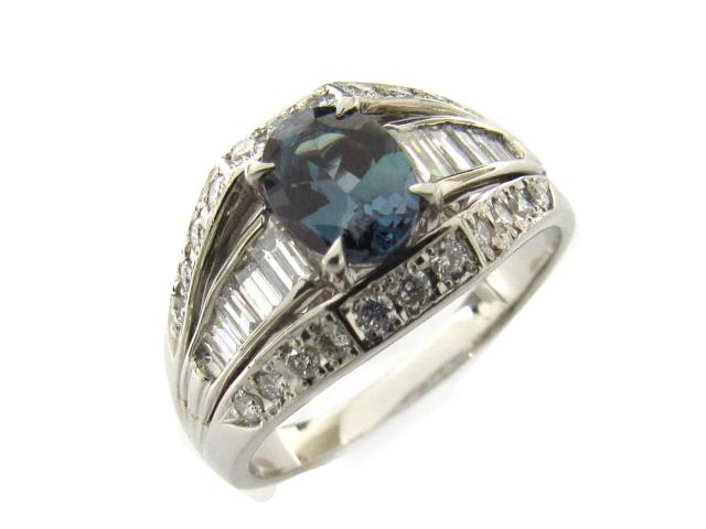 【中古】【送料無料】ジュエリー アレキサンドライト ダイヤモンド リング 指輪 レディース PT900 プラチナ x アレキサンドライト(1.01ct) x ダイヤモンド(0.77ct) | JEWELRY Ring ダイヤ 美品 ブランドオフ BRANDOFF 美品 ボーナス