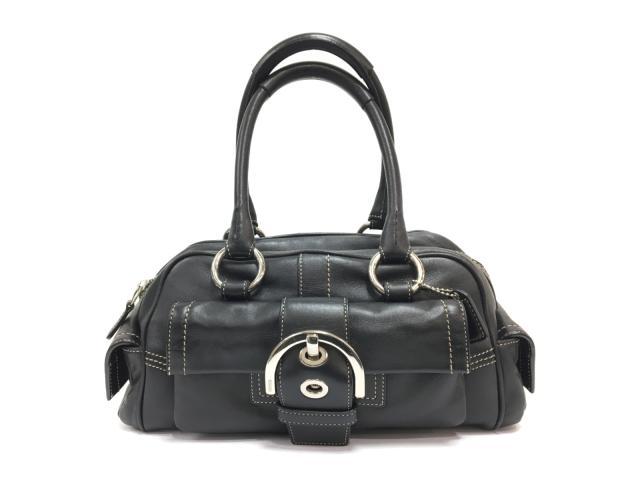 【中古】コーチ ハンドバッグ レディース レザー ブラック | COACH ハンドバッグ バッグ バック BAG 鞄 カバン ブランドバッグ 美品 ブランド ブランドオフ BRANDOFF