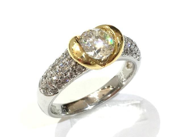 【中古】【送料無料】ジュエリー ダイヤモンド リング 指輪PT900 プラチナ×K18YG(750)イエローゴールド×ダイヤモンド1.019/0.49ct | JEWELRY リング メンズ レディース K18 18K 18金 ブランドオフ BRANDOFF 美品 ボーナス