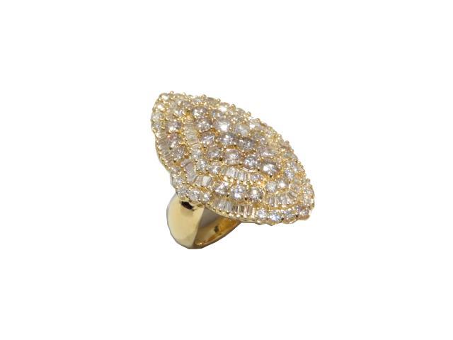 【中古】【送料無料】ジュエリー ダイヤモンドリング 指輪 レディース K18YG(750) イエローゴールド | JEWELRY リング K18 18K 18金 ブランドオフ BRANDOFF ボーナス