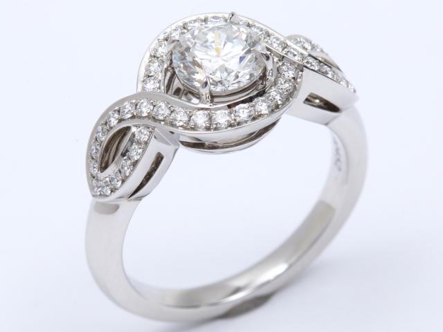 【中古】【送料無料】ハリーウィンストン リリークラスター 1Pダイヤモンド リング 指輪 レディース PT950 プラチナ x ダイヤモンド | HARRY WINSTON リング 美品 ブランド ブランドオフ BRANDOFF
